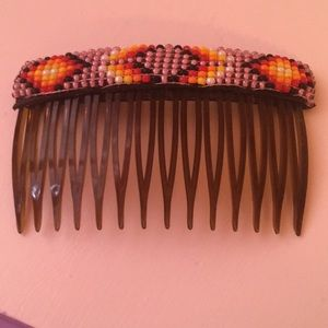 Accessories - Multi colored beaded hair barrette.